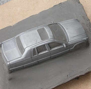 Scale model starrt finish