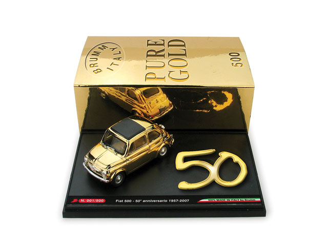 FIAT 500C, 50th Golden Anniversary Set